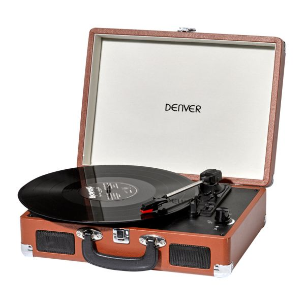 Record Player Denver Electronics 220694 USB Brown