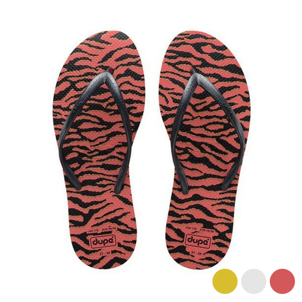Women's Flip Flops Dupé Exotica Orange Black