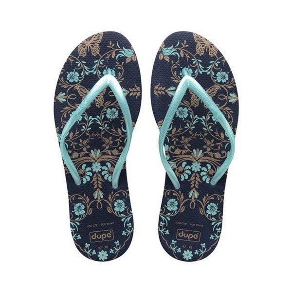 Women's Flip Flops Dupé Belle Navy blue