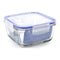 Hermetic Lunch Box Borgonovo Transparent Squared