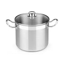 Casserole with glass lid BRA Profesional 8,5 L Stainless steel (ø 24 cm)