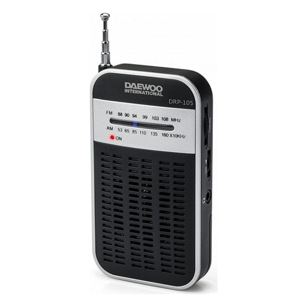 Transistor Radio Daewoo DRP-105 S FM/AM Black Grey