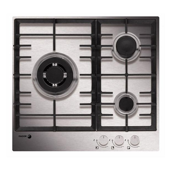 Gas Hob FAGOR 6FI-3GLSTX (60 cm) Stainless steel (3 Stoves)