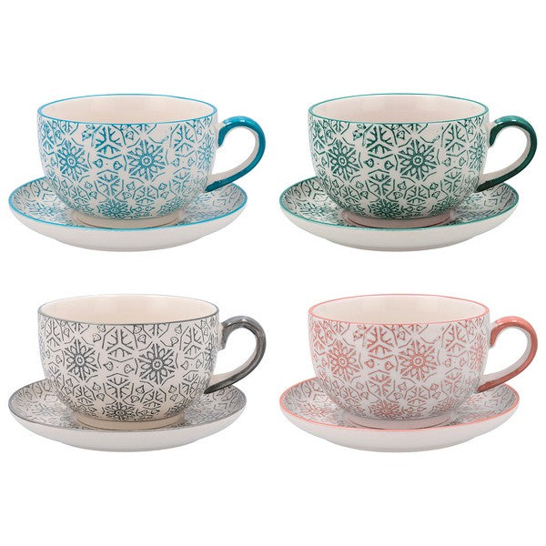 Set of Mugs Quid Vita Porcelain 0,3L (4 pcs)