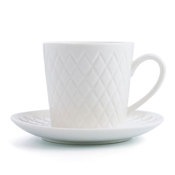 Set of Mugs with Saucers Bidasoa Optical (4 pcs) 22 cl