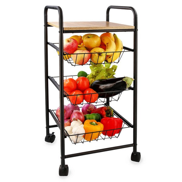 Vegetable trolley Quid Square Metal (34 x 34 x 76 cm)