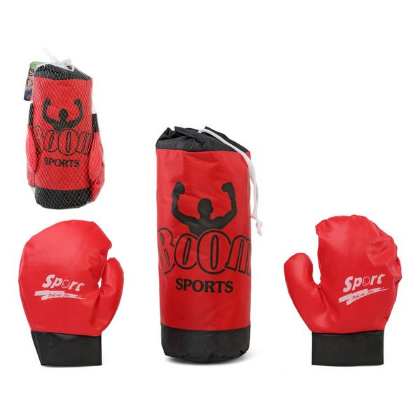Punch-bag & Gloves Red 118020