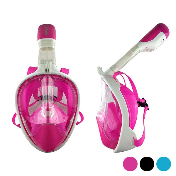 Snorkelling mask with sports camera support Silicone