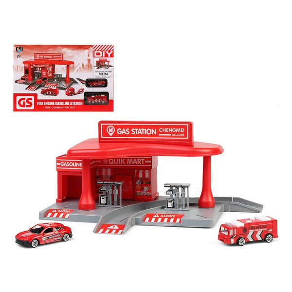 Vehicle Playset Gas Station 112121 Red
