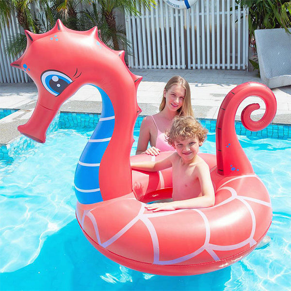 Inflatable Pool Float Seahorse (126 x 110 x 107  cm)