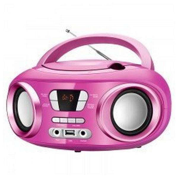 Radio CD Bluetooth MP3 BRIGMTON W-501 USB Pink
