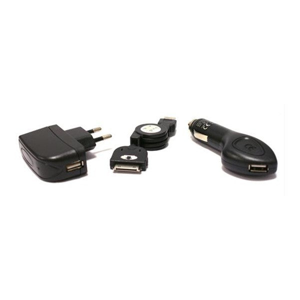 Universal 3-in-1 Charger Iphone 3, 3gs, 4, 4s KSIX Micro USB USB Black