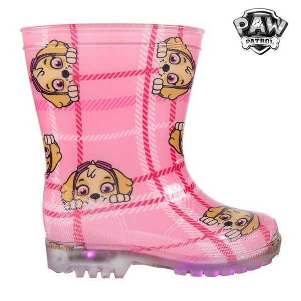 Children's Water Boots with LEDs The Paw Patrol 73480 Pink