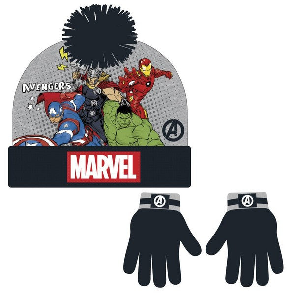 Hat & Gloves The Avengers 74410 Grey (2 Pcs)