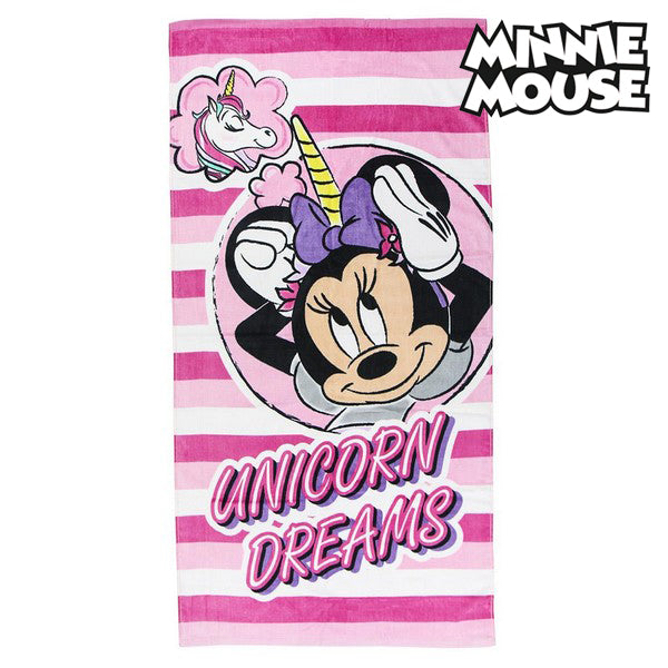 Beach Towel Minnie Mouse 75493 Cotton Pink
