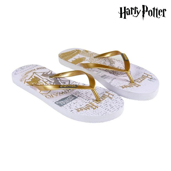 Women's Flip Flops Harry Potter 74426 White Golden
