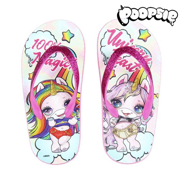 Flip Flops for Children Poopsie 74433 Pink White