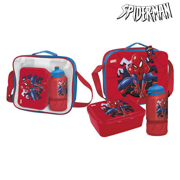 Lunchbox with Accessories Spiderman Red