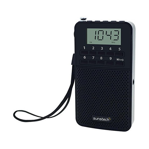 Transistor Radio Sunstech RPDS81BK AM/FM PLL 20 mW Black