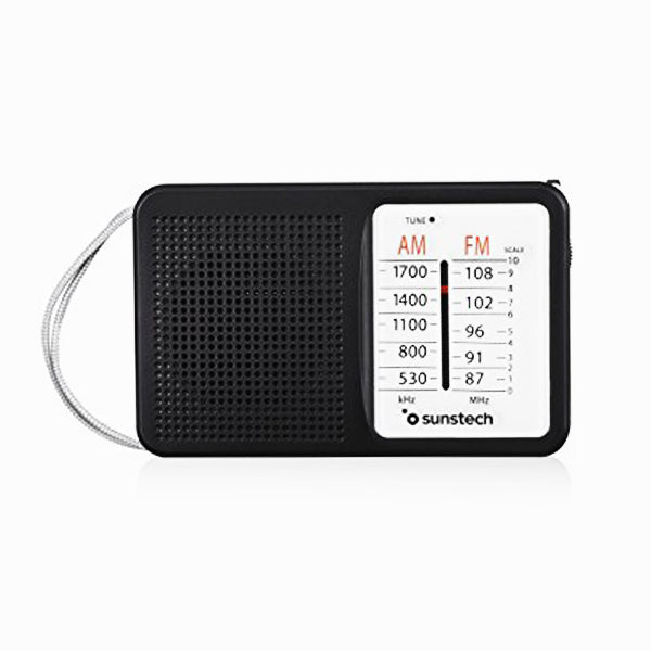 Transistor Radio Sunstech RPS411BLISBK AM/FM Black