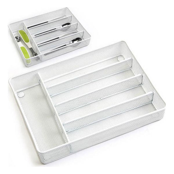 Cutlery Organiser Confortime White Metal (32 X 23,5 x 5,2 cm)