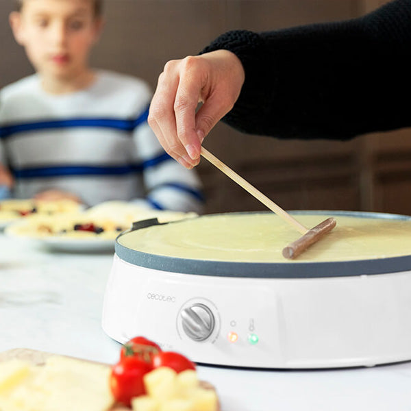 Crepe Maker Cecotec Fun Crepestone Twin 1200W White Grey