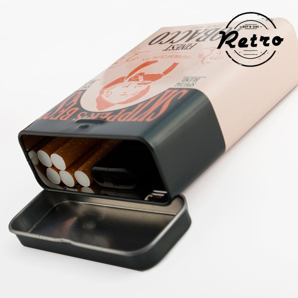 Retro Metallic Cigarette Case