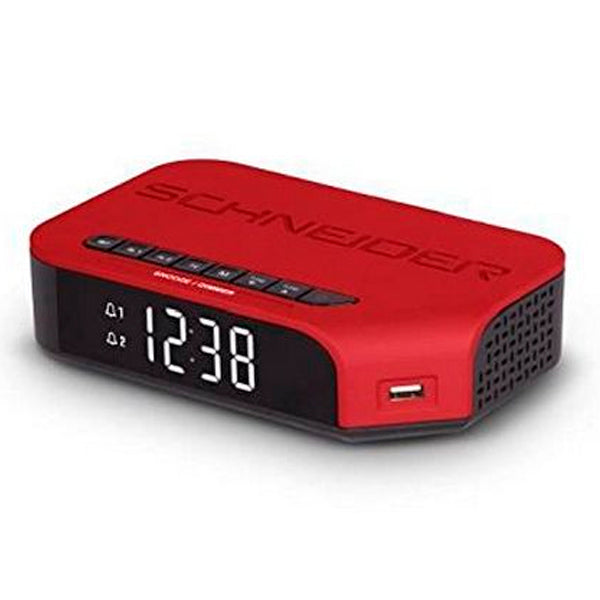 Clock-Radio SCHNEIDER VIVA SC310ACLRED AM/FM USB Red