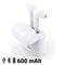 Bluetooth Headset with Microphone Contact 600 mAh White