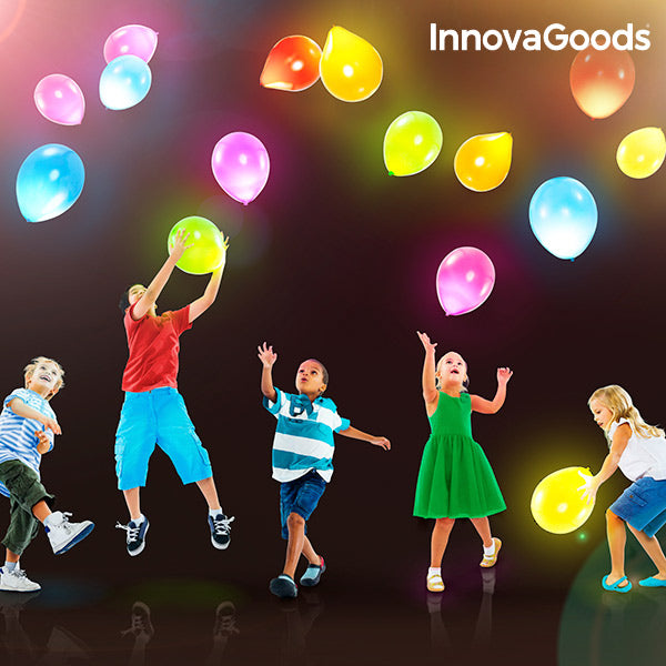 InnovaGoods LED Balloons (Pack of 10)