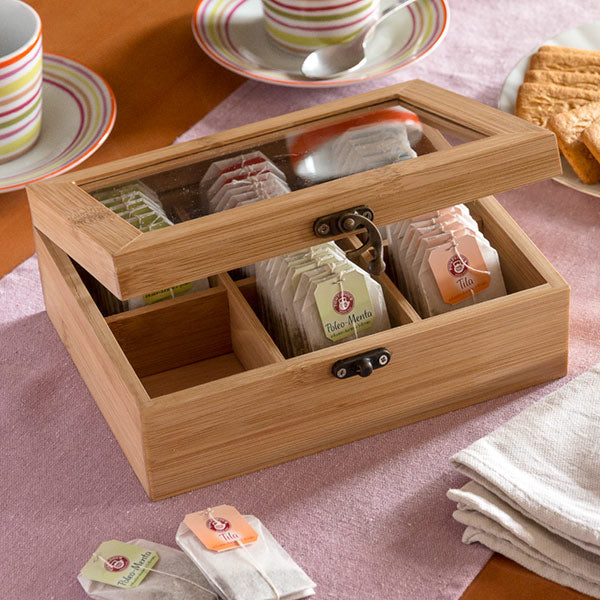 TakeTokio Bamboo Tea Storage Box