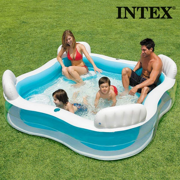 Intex Summer Inflatable Family Pool with Seats
