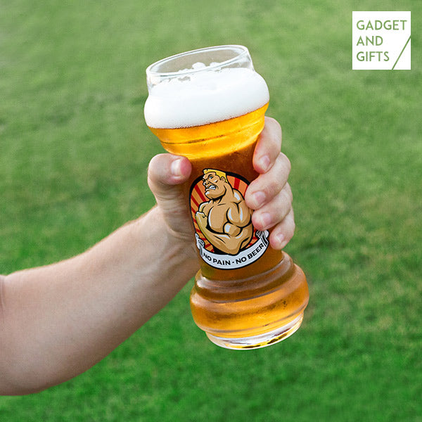 Gadget and Gifts No Pain No Beer Beer Glass