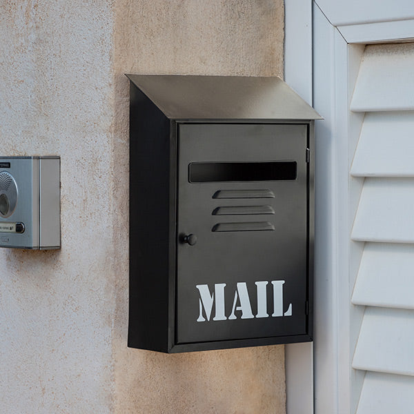 Mail Black Metal Mailbox