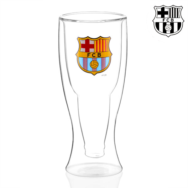F.C Barcelona Double Bottom Beer Glass