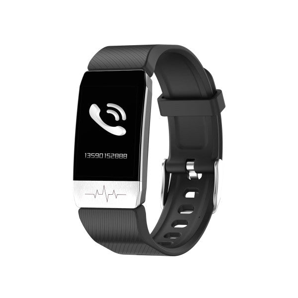 "Activity Bangle KSIX Thermometer HR 1,4"" Bluetooth 90 mAh Black"
