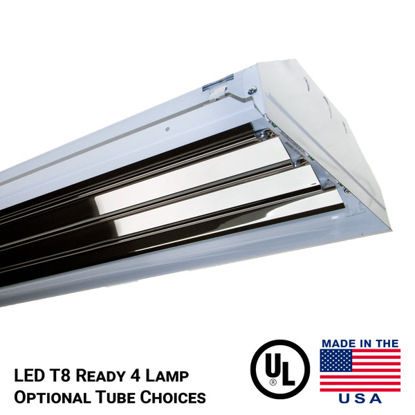 4 lamp LED T8 Tube Ready Fixture