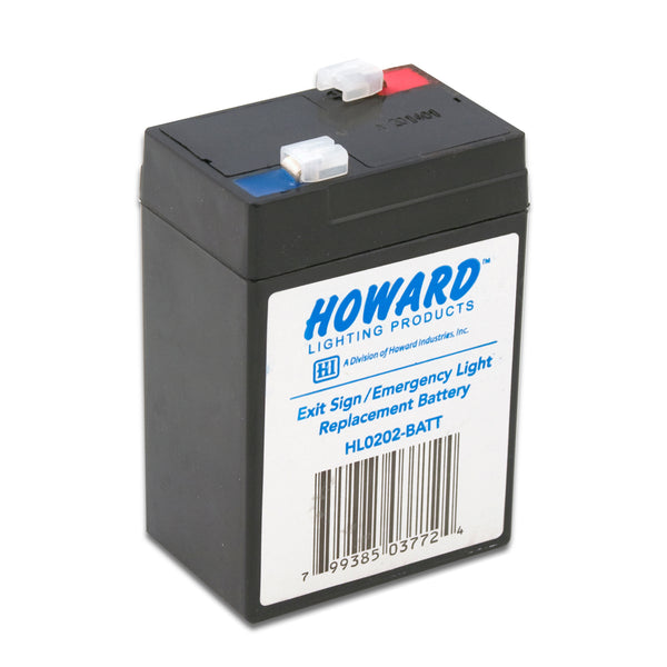 6V 4.5Ah Replacement rechargeable sealed lead acid battery for Howard Lighting HL0202