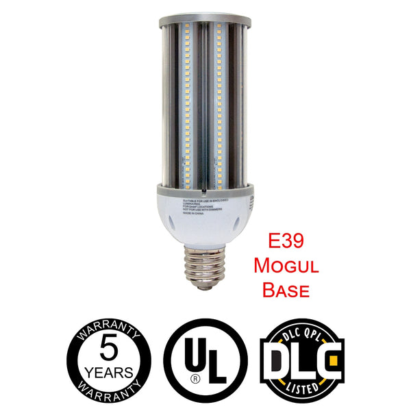 LED One Distribution LED Corn Bulb w E39 Mogul Screw Base 45W 120-277V 5504 lumens 5000k Not Dimmable Damp Location Rated 5 Year Warranty