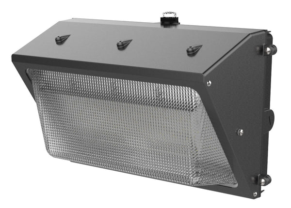 LED Wall Pack Light 40W or 60w 120-277V 5292 or 7212 lumens 5000k non-dimmable with built-in photocell top side view