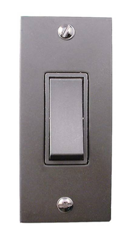 1 Gang 2 Way Architrave Rocker Switch with Back Box