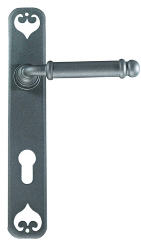 Ferramenta 63-035 Smooth Lever Privacy Silver Zinc