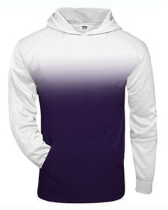 Badger Youth Ombre Hooded Sweatshirt Purple