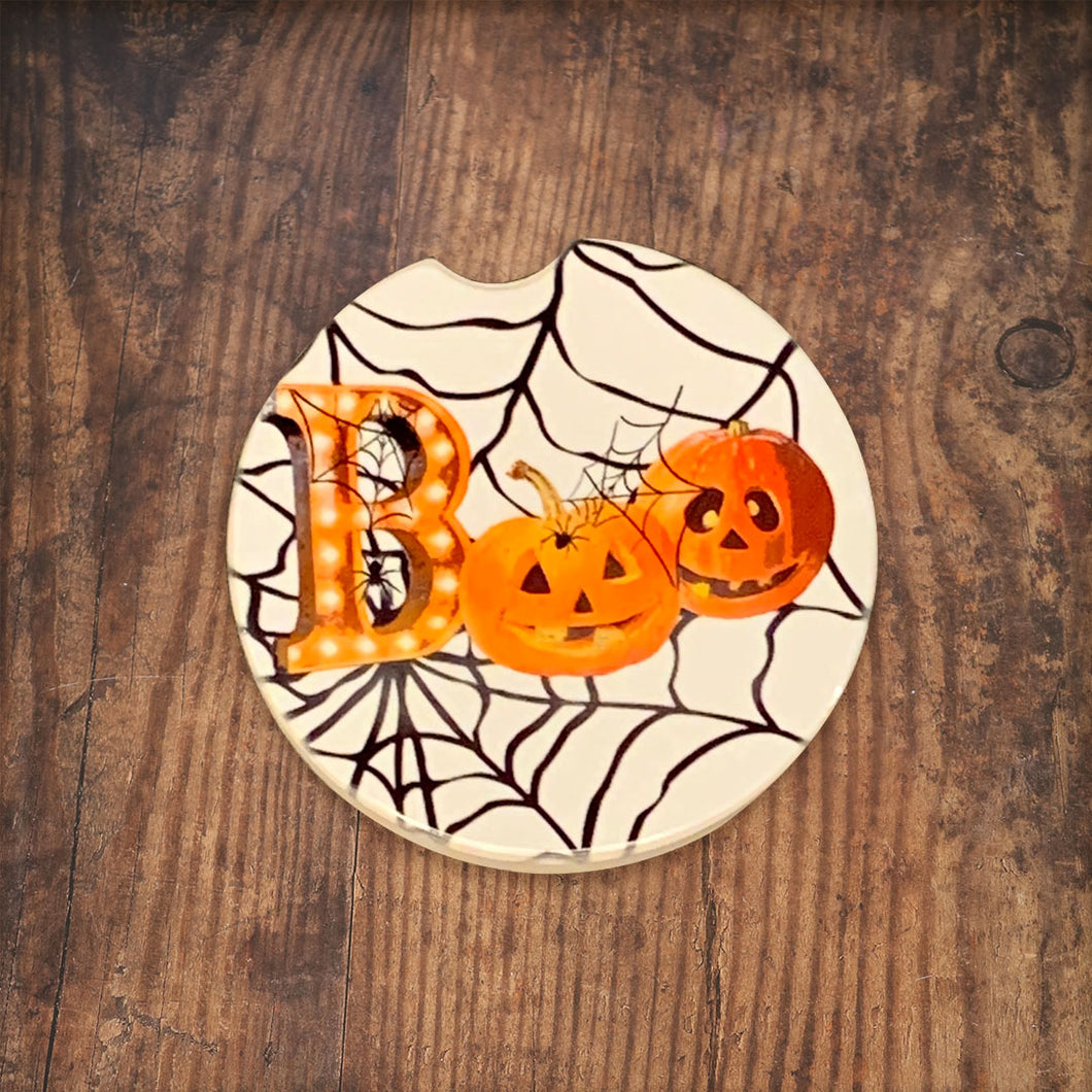 Boo Pumpkin Car Coaster