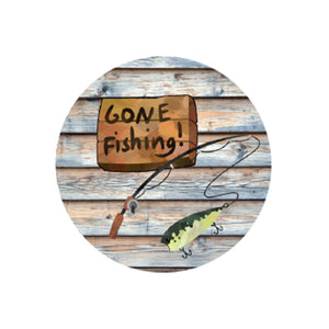 Gone Fishing Car Coaster