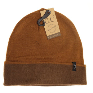 Unisex Two-Tone Reversible CC Beanie