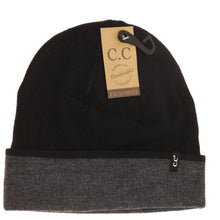 Load image into Gallery viewer, Unisex Two-Tone Reversible CC Beanie
