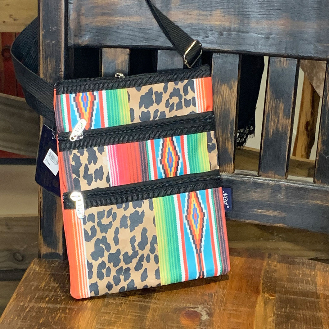 Leopard Serape Messenger Bag