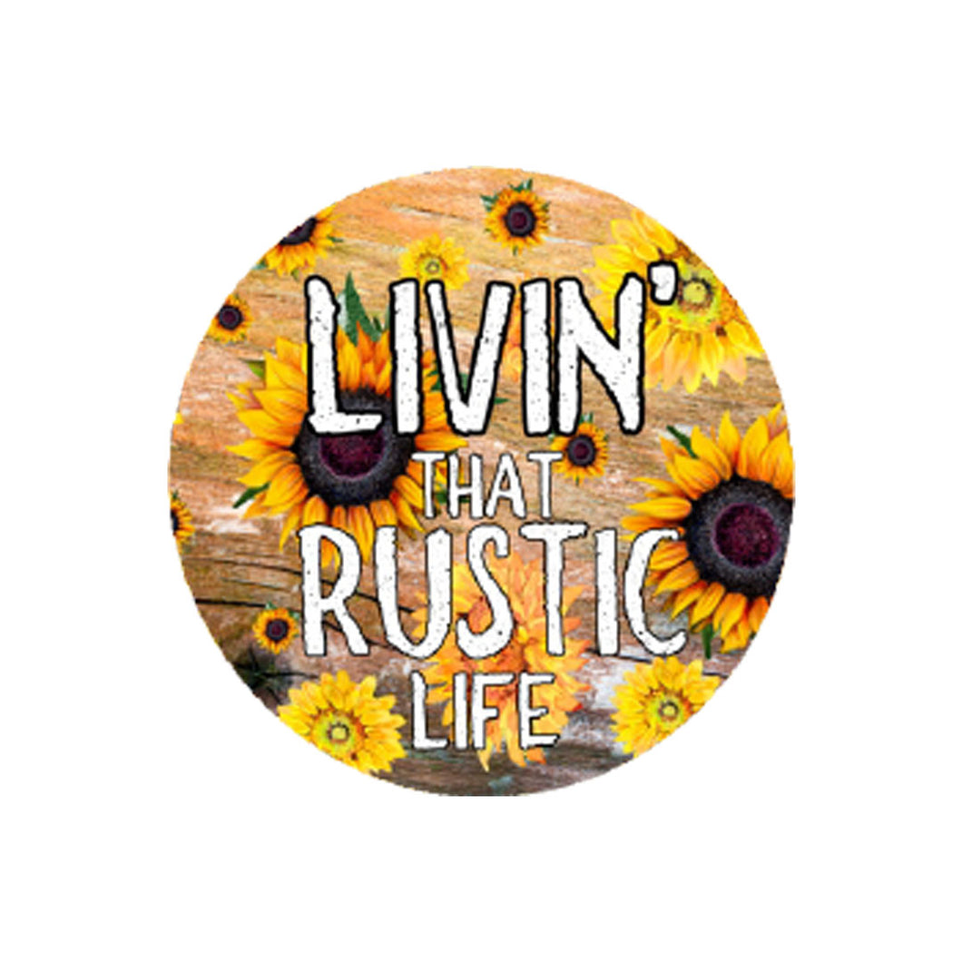 Living That Rustic Life Car Coaster