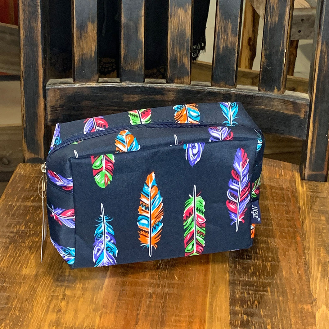 Feather Large Cosmetic Travel Pouch